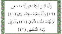 Surat An Najm ayat 39-42 terjemah