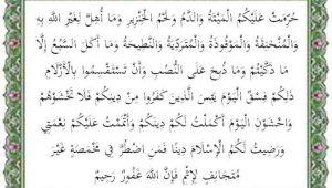 surat al maidah ayat 3 terjemah per kata